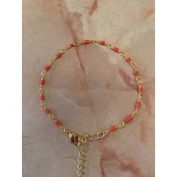 Bracelet pierres fines rouge